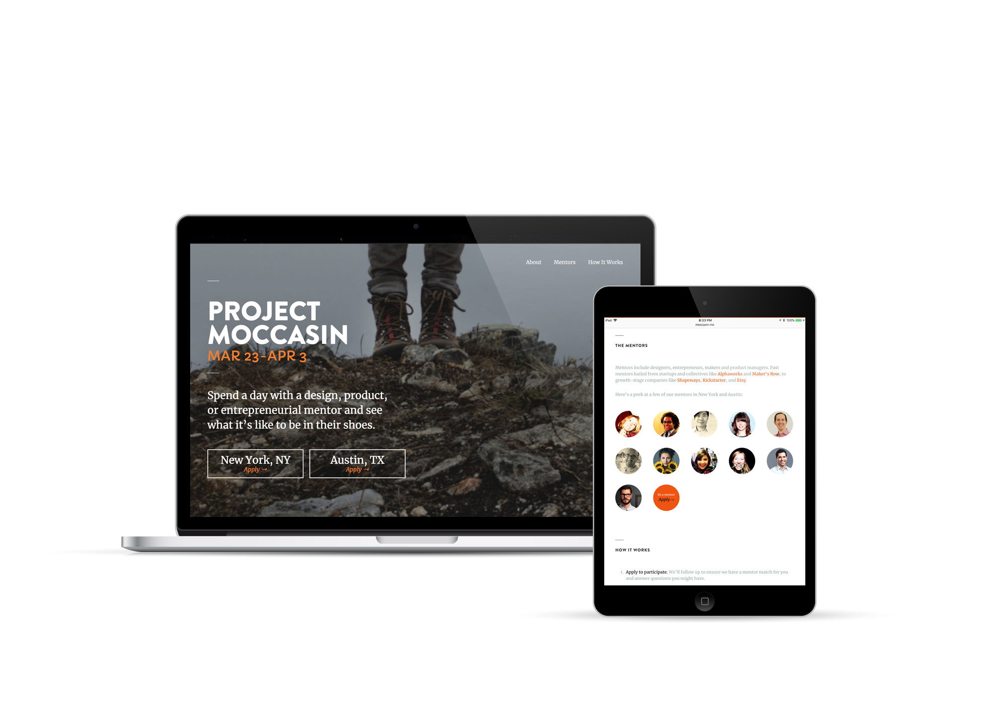 project moccasin screens